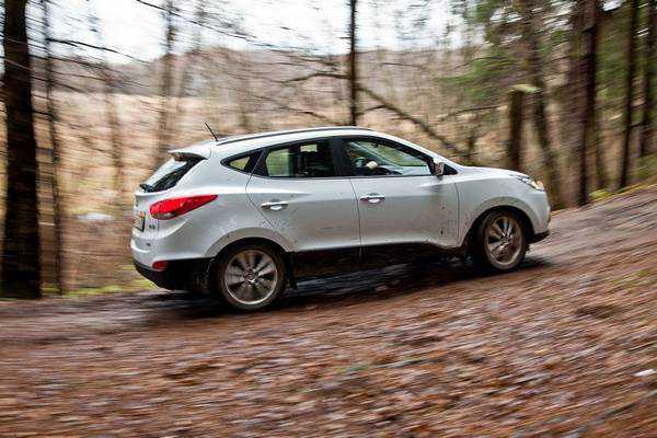 Hyundai ix35 справляется с проселком