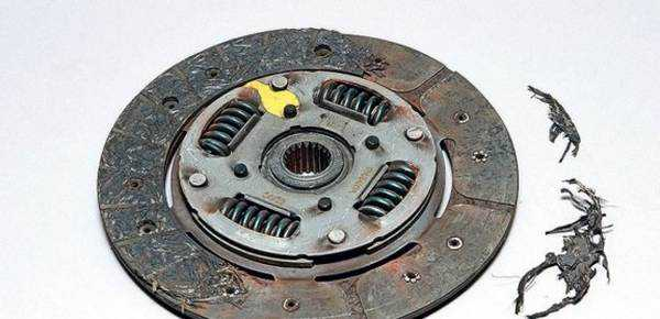 накладка и выжимной диск сцепления