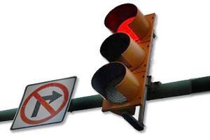 поворот на право под красный фото