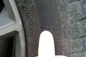 боковой порез шины фото